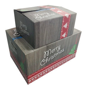 Design Christmas Gift Box With Flat Packing For USA