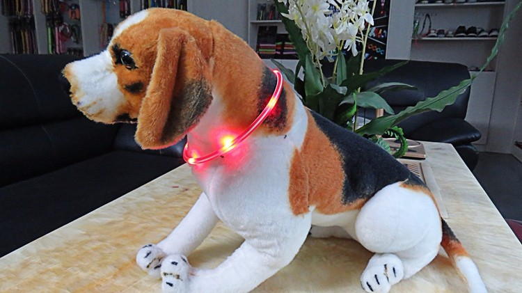 Adjustable Waterproof Factory Wholesale Led Light Flashing Dog Collar For Christmas
