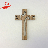 new design carved wooden cross keychain