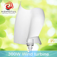 300w corrosion resisting vertical axis wind turbine 12v domestic wind generator suppliers in China