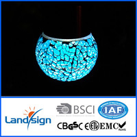 2015 Hot Sale decorative lighting High Quality color changing led solar light XLTD-210 Series mosaic glass ball