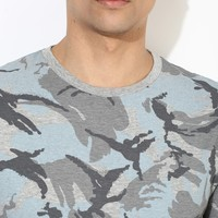 wholesale high quality 100% cotton spandex different types of mens running camo t shirt