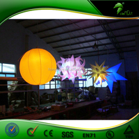 Hot Sale Inflaatble Light Ball ,Inflatable Hanging Balloon With LED light For Decoration
