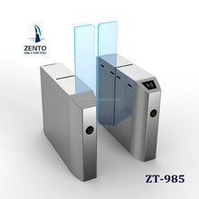 intelligent pedestrian management glass door sliding turnstile barrier