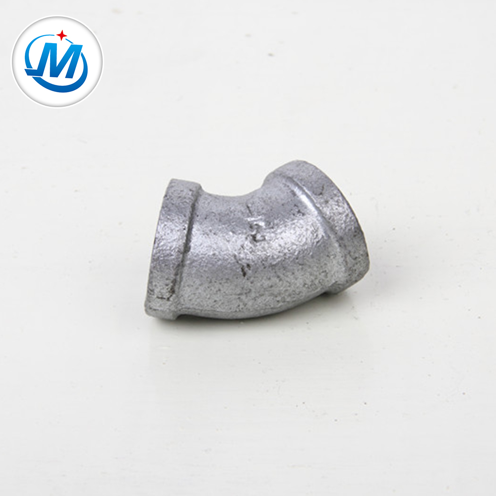 45 Degree Galvanized Elbow Malleable Iron Pipe Fittings Made By Cast Iron Product