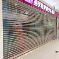 Commercial polycarbonate transparent roller shutter