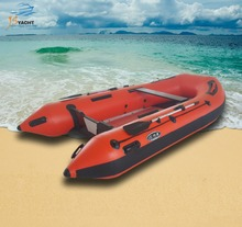 JS aluminum floor inflatable rubber boat China for fishing