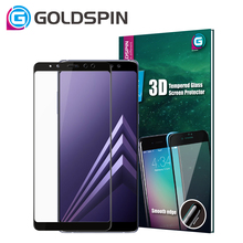9H 3D Tempered Glass Screen Protector For Samsung Galaxy A8 Screen Guard