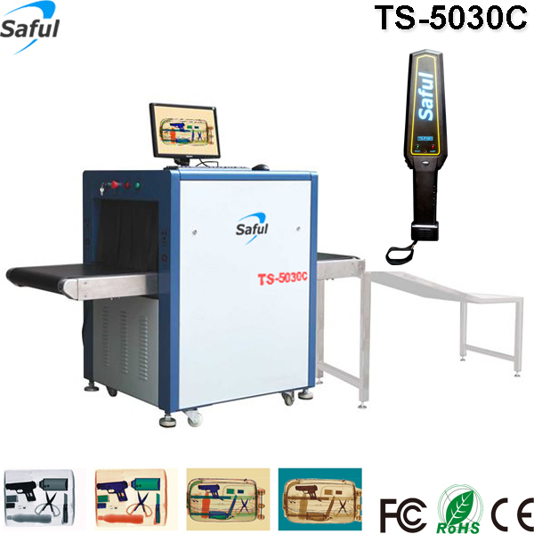 Hotel office use x ray parcel baggage scanner TS-5030C to detect weapons