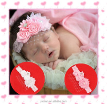 Baby Headbands Boutique flower +girls elastic hair bands+pearl hair accessories for kids