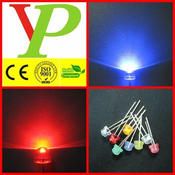 Hot sales for multicolor red blue 5mm straw hat led