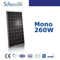 25 years warranty high efficiency mono 260 watt solar panel for solar system