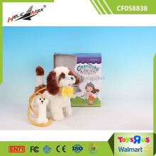 Play Pet Toy Plush Puppy Electric Walking Dog Toy for Kids