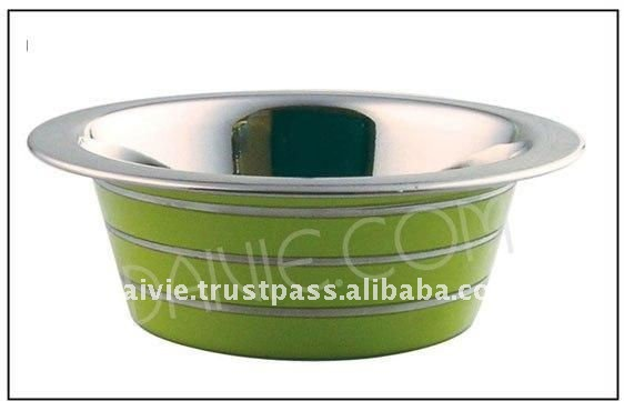 Stainless steel pet bowl / colored pet bowl/ color ribbed pet bowl