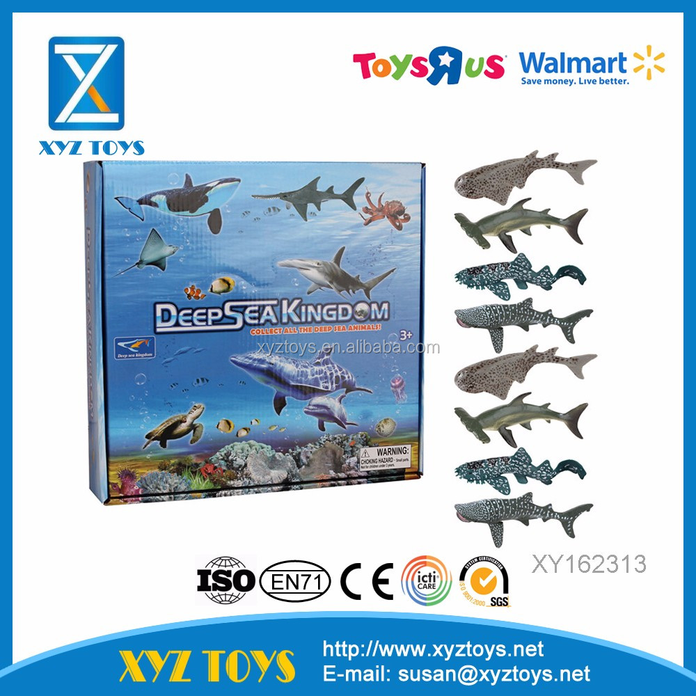 Popular sales deep sea fish animal model educational animal toy for children