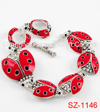 SZ-1146 Hot Sale Animal For Ladybug Charm Bracelet With Enamel