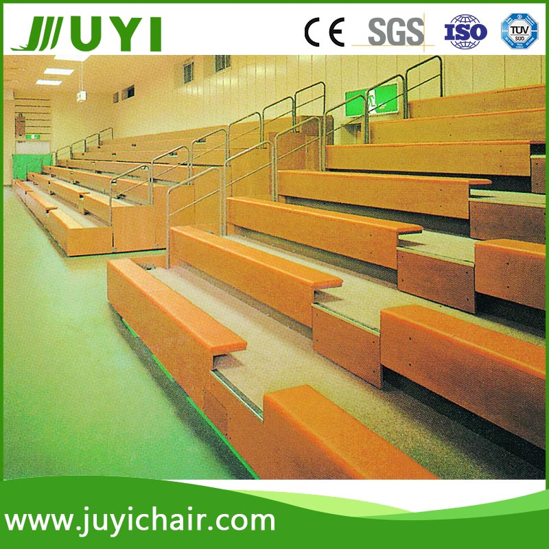 JY-705 wall mounted folding chairs Molded Stadium Wooden Chair