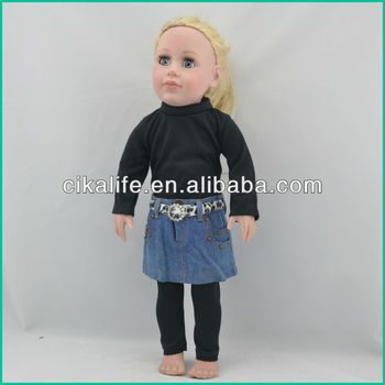 18 inch nature friendly cotton fit Ballerina doll clothing factory