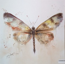 Modern Home Decoration Wall Painting Animal Designs Butterfly Paintings Art On Canvas Print Oil Painting by Number