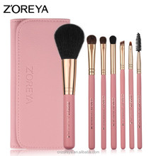 2018 Z'OREYA 7pcs makeup <strong>brushes</strong> private label beauty gift makeup <strong>brush</strong> set