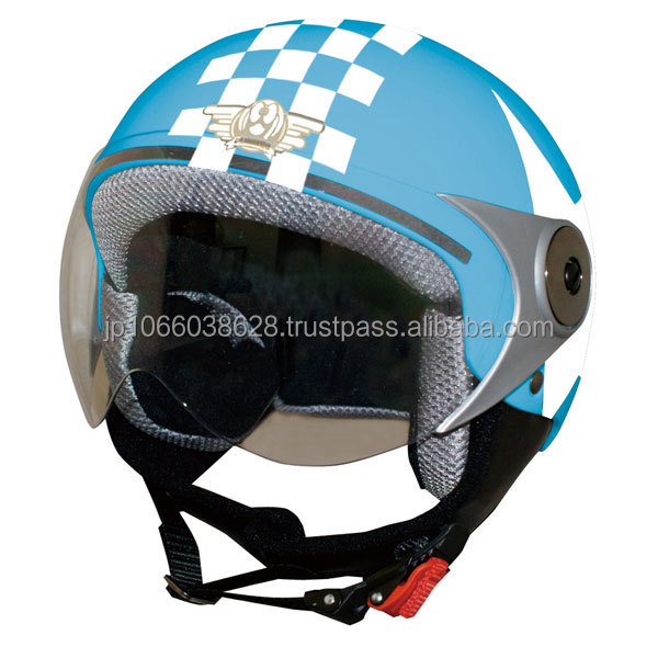 Japanese motorcycle open face helmet for child with face visor