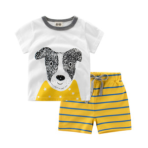 Summer European Style Cotton Baby Boy Sets Clothes Children's Clothing Sets