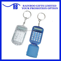 Hot selling plastic cheap mini keychain Calculator with foldable lid for promotion