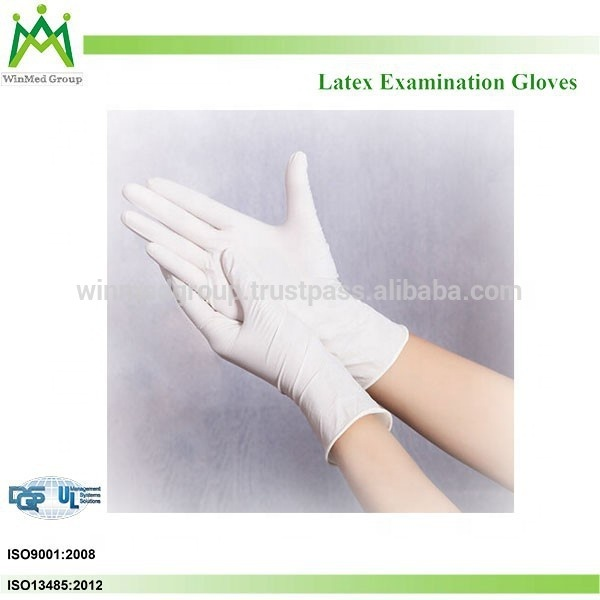 Disposable Medical Supplies Latex Hand Gloves