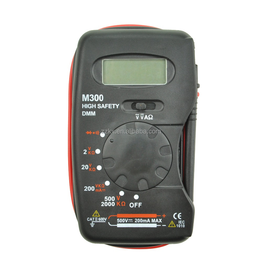 Mini Palm Size digital multimeter M300 Portable Pocket Digital Multimeter M300 with Bag
