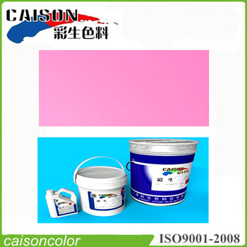 Pink aqueous balloon coating products