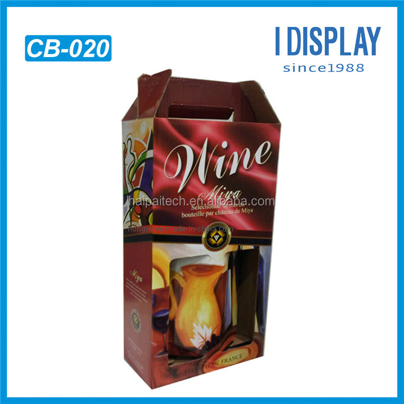 hot selling products corrugated paper cardboard packing color boxes for coffee bottle