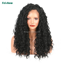 Wholesale cheap 150% density Kinky curly lace front wigs synthetic hair for black women