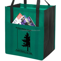 Eco-friendly non woven tote grocery shopping bag wholesale/promotional cheap reusable laminated non-woven eco friendly bag