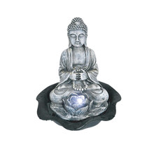 Resin Small Pump Battery Operated Indoor Buddha Water Fountain