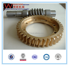 custom gear worm made by whachinebrothers ltd.