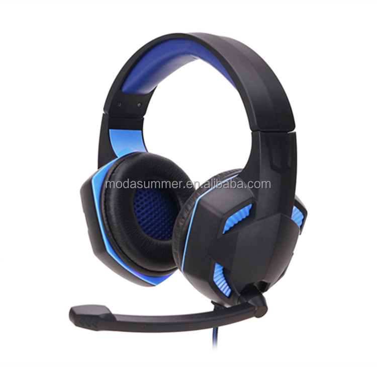 Computer Gamig Headphone Game Headset with Microphone Headphones Cool Light Bass Earphone