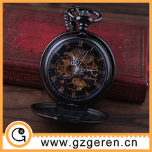 New coming high quality empty mechanical pocket watch,wholesale pocket watch