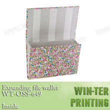 WT-OSS-649 Office supplies expanding file pockets printing