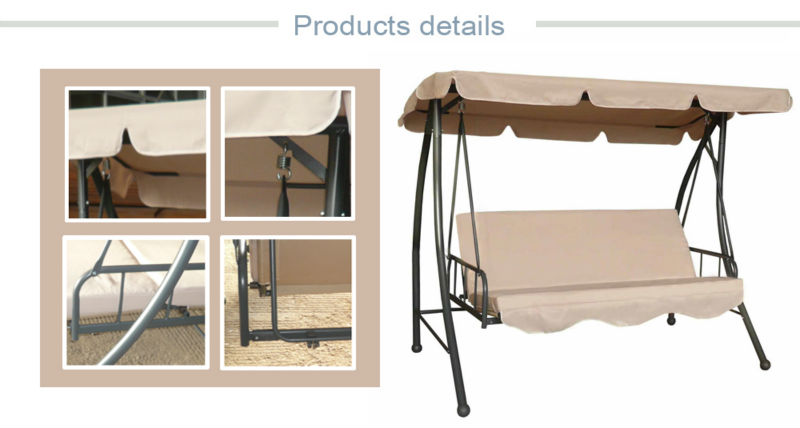 indoor garden swing chair bed adult swing bed free stand swing hammock 3 seater swing bed canopy swing bed