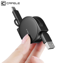 CAFELE Funny Original Portable 2 in <strong>1</strong> retractable usb charging cable for iphone charger Cable Micro for iphone <strong>x</strong> Date usb cable