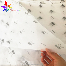 custom printing own logo 17gsm wrapping tissue <strong>paper</strong> for clothes gift packaging