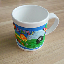 soft pvc kids personalized plastic cartoon animal mug cup