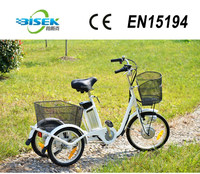 36V 250W lithium battery three wheel electric motor bike