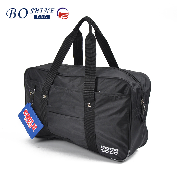BOSHINE Wholesale high quality new design best embroidered nylon waterproof polo latest model travel bag luggage bags