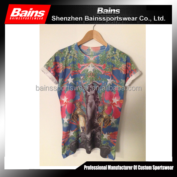 Custom sublimation animal printed 3d t-shirt sex girls photos new style