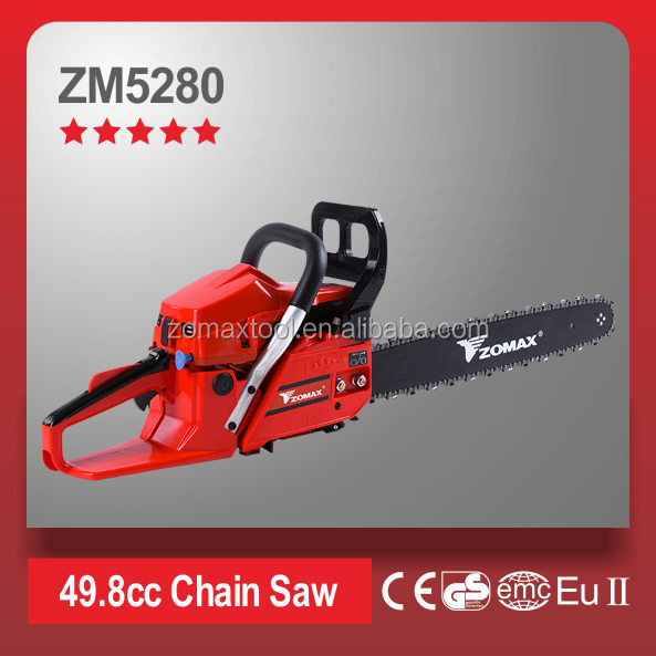 On sale Zomax gasoline chainsaw 52cc jonsered chainsaw