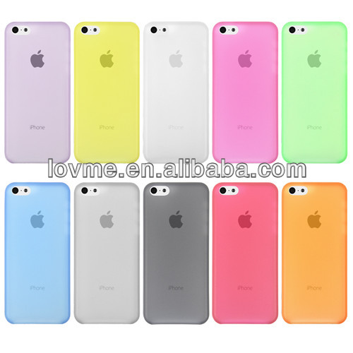0.3mm Ultra Thin TPU Matte Frost Case Cover Skin For Apple iphone 5C