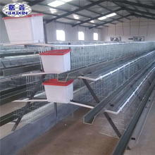 Big sale used for feeding chicken 3 tiers 96 birds galvanized Layer chicken poultry cage with poultry farm equipment