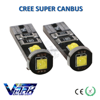 12v t10 5w5 c ree super canbus car led lamp for side and tail light interior light