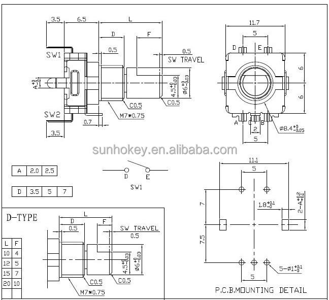 hashida rotary encoder coding switch ec11 audio digital